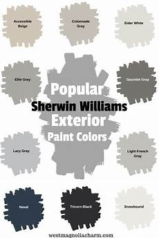 popular sherwin williams exterior paint colors west magnolia charm