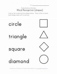 shape words worksheets kindergarten