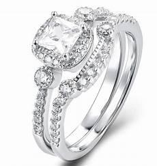 925 sterling silver cz wedding band engagement rings set women sz 2 5 14 ss2193 ebay
