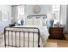 White Metal Bed Bedroom Ideas by The Black Iron Bed Is The In This Blue And