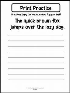 make handwriting practice worksheets quickly 21540 print practice the brown fox jumps the lazy with images printing practice