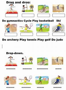 sport worksheets for year 1 15896 at the sport centre drag and drop drop interactive worksheet