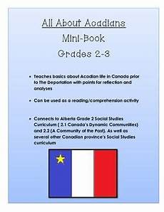 all about acadians alberta social studies grade 2 3