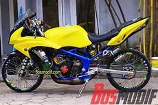 Warna Motor Keren by Modifikasi Motor Kawasaki R Rr Warna Kuning Keren