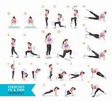esercizi aerobici da fare in casa workout fitness aerobic and exercises stock vector