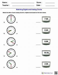 time worksheets matching digital to analog 3088 444 best images about math aids on addition worksheets equation and number