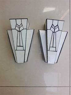vintage art deco wall lights with mounting brackets and rewired light fittings antique retro
