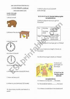 time revision worksheets 3176 revision of what time is it when is your birthday esl worksheet by yadikar