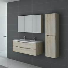 meuble 2 vasques couleur bois ensemble de salle de bain