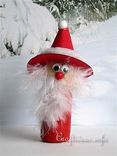 craft idea for wine cork santa claus