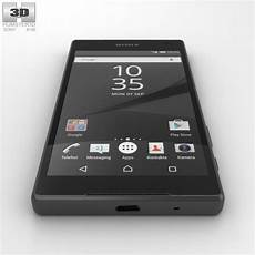 sony xperia z5 compact graphite black 3d model humster3d