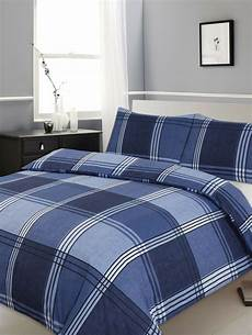 check bed sheets bedding check blue stripes duvet cover quilt duvet cover set with pillowcase ebay