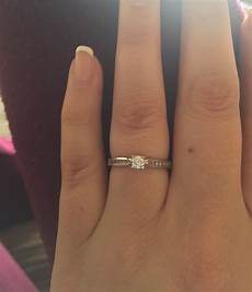 anyone with small stone engagement rings weddingbee