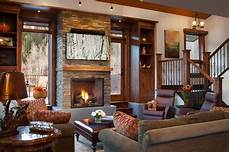 tree haus renovation rustic living room denver by