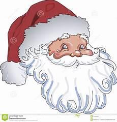 Malvorlage Weihnachtsmann Kopf Weihnachtsmann Kopf Stock Abbildung Illustration