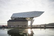 zaha hadid architects antwerp port house photographed by
