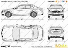 The Blueprints Vector Drawing Mercedes C