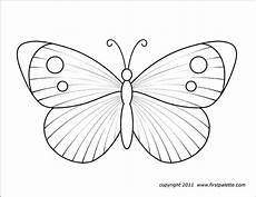 butterflies free printable templates coloring pages