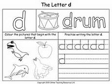 letter d worksheets 24203 letters of the alphabet teaching pack 24 powerpoint presentations and 26 worksheets by