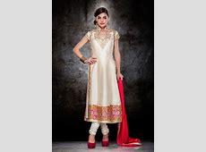 Off White Raw Silk Pakistani Style Suit 63179   Churidar