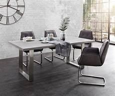 Esszimmertisch Mit Stühlen - esszimmertisch cement edge grau 200x100 beton gestell