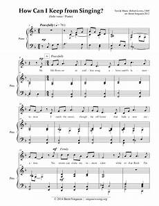 singing music sheet how can i keep from singing by brent yorgason vocal solo
