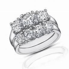 2 25 ct three stone diamond engagement ring with