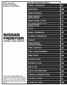 auto repair manual online 2007 nissan frontier electronic toll collection 2001 nissan frontier model d22 series service workshop repair manual pdf download hey