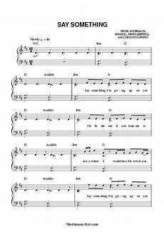 download say something piano sheet music a great big world with aguilera download