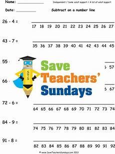 subtraction worksheets eyfs tes 10064 number line subtraction ks1 worksheets lesson plans and plenary by saveteacherssundays