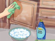 Kitchen Cabinet Doors Cleaning by 3 Ways To Clean Laminate Cabinets Wikihow