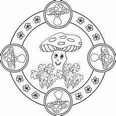 Malvorlage Jahreszeiten Mandala Mandala Malvorlage Pilze Ausmalbilder Mandalas Zum