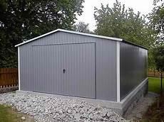 Blechgarage Doppeltgarage Garage Moderne Garage