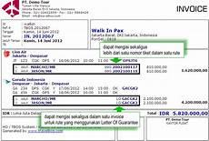 9 contoh invoice faktur tagihan pembayaran penjualan format simpel