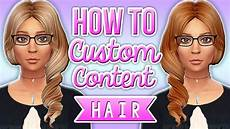 custom content hair sims 4 the sims 4 how to make custom content hair recolors youtube