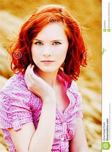 young girl with red hair stock photo image of forest beautiful young girl with red hair stock photo image 20240010