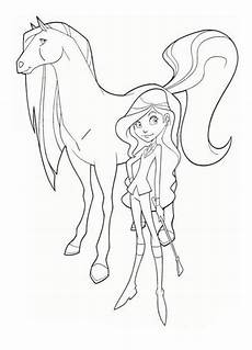 drawing and scarlet from horseland coloring pages