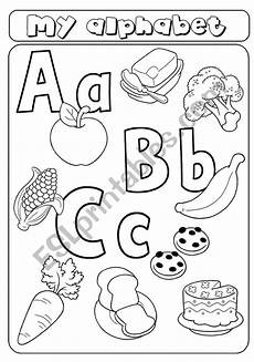 letter a b c worksheets 23975 my alphabet letters a b c food esl worksheet by asia1978