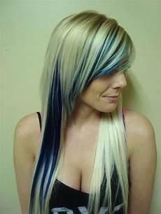 with blue highlights blue hair highlights
