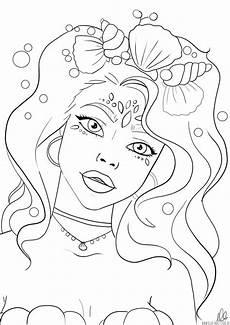 meerjungfrau ausmalbild mermaid coloring page