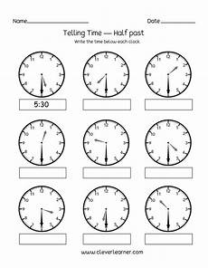 time worksheets hour and half hour 2913 telling time half past the hour worksheets for 1st and 2nd graders
