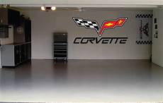 Sticker Garage by Corvette Car Decal Garage Door Or Wall Decal By Signjunkies