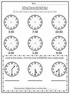 time on the hour worksheets for kindergarten 3611 half hour time worksheet time worksheets grade 2 teaching math grade math
