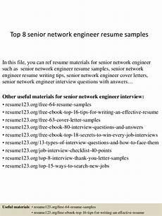 top 8 senior network engineer resume sles