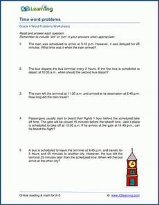 elapsed time worksheets 5th grade word problems 3290 grade 4 time word problem worksheets k5 learning