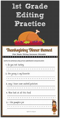 thanksgiving 1st grade editing printable gym craft laundry