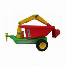 bobby car mit anhänger babyrutscher anh 228 nger gr 252 n mit baggerarm und kippmulde f 252 r