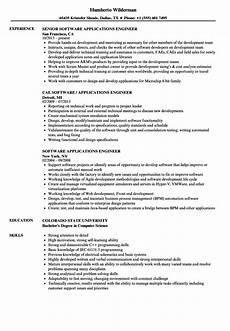 software applications engineer resume sles velvet