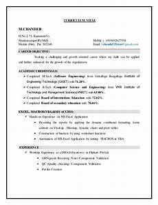 resume format m tech students m tech resume
