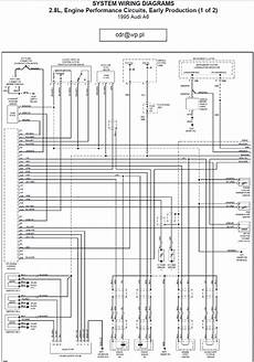1996 audi a6 engine performance circuits wiring diagrams part 1 schematic wiring diagrams